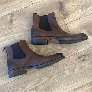 Men Wolverine Leather Ankle Brown 1000 Mile Boots